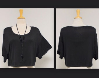 Over Sized Cute Black Tunic Top Boho,HipHop, Travel,Beach,Party, S,M,L