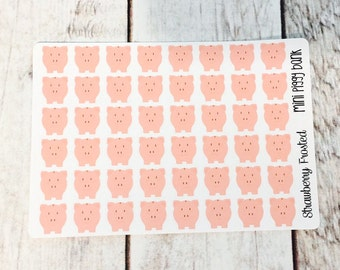 MINI SIZE Piggy Bank/Money Savings Planner Stickers -Planners//Personal Size Planner