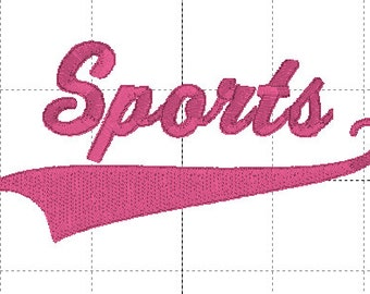 "Sports Font, Complete Alphabet Upper and Lower Case with 5 different ""swoosh"" options for under letters."