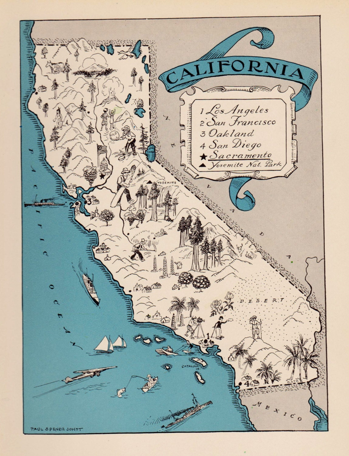 California art – Travel Map Of California
