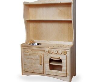 Little Chef's Play Kitchen (Wooden Play Kitchen)
