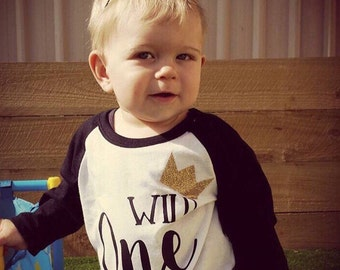 Wild One Birthday Shirt;First Birthday;1st Birthday;Boy's Birthday;Cute First Birthday Shirt Girl;Girl's Baseball Shirt;Girl's Birthday