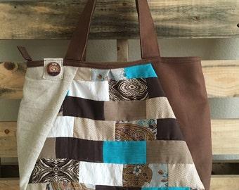 Patch Work Tote Bag (Handmade)