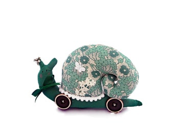 Fabric snail. Large Snail ornament. Exclusively Handmade. Hand made snail ornament.Hand made crafts. Handmade gifts