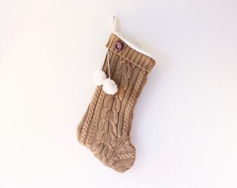 Knitted stocking | Etsy