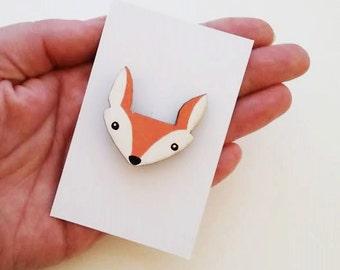 Fox Face Brooch