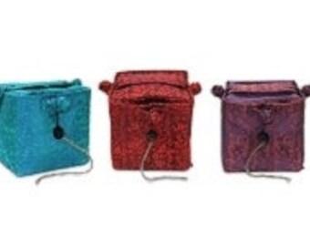 Lantern Moon Knit Out Box Silk Yarn Bowl Yarn Caddy Knitting Tool Box Yarn Storage Box, Knitting Notions Box Lantern Moon Silk Box Red, Teal