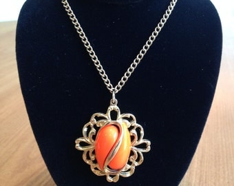 Oval Orange necklace