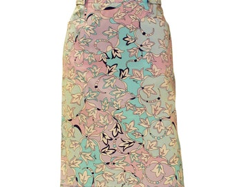 1970s Pucci Printed Cotton Skirt