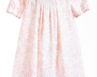 Pink Toile Dress Summer Dress Girls Dress
