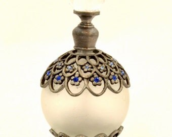 Free Shipping- Vintage Look Bejeweled Perfume Bottle