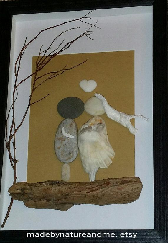Stone Art Wedding Gift : ... gift, pebble wedding art, stone wedding gift, rocks wedding gift art