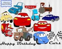 Disney Cars svg, cars svg, disney svg, disney cars clipart, cars clip art, lightning mcqueen, mater svg, mater clipart, svg files, silhouett