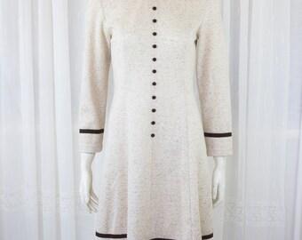 Lovely vintage mod 60's 70's dress brown
