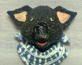 Handpainted Pig Magnet
