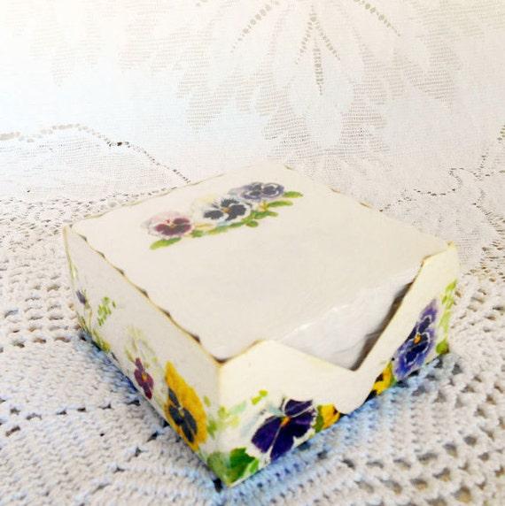 Carol S Garden: Pansies Memo Cube Carol's Rose Garden Fancy Notes