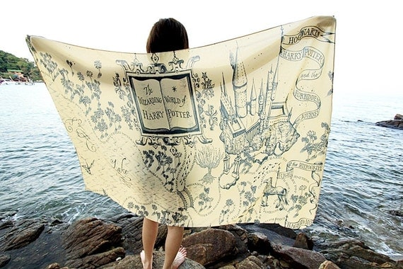 The Marauder's Map Hogwarts Harry Potter Scarf