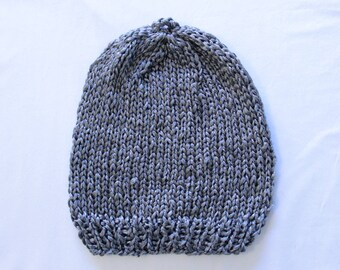 Metallic Silver Knitted Hat