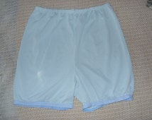 Adult baby sissy crossdresser Panties Vintage Nylon Bloomers