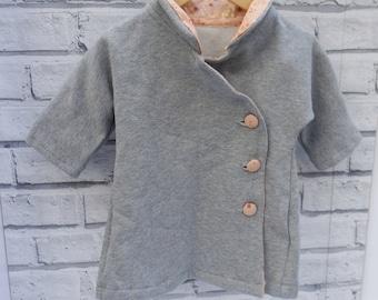 Baby fleece long coat - organic cotton