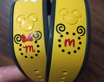 Swirl Personalized Mickey or Minnie Magic Band Decals