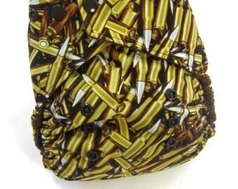 Bullets Cloth Diaper, Pocket Diaper, One Size Diaper