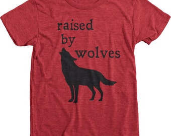 Raised By Wolves Kids Premium Tri-Blend T-Shirt