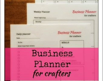 Craft Business planners for Craft Businesses - digital download pdf - 3 files -daily, weekly and monthly