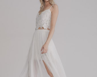 Lace bohemian wedding dress- LILY-ROSE GOWN