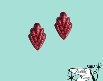 The 50s Classic earrings in deep red