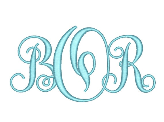 Sale size inter wined monogram letters