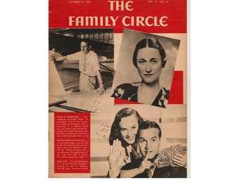 The Family Circle Magazine October 10, 1941 1940's Mid Century Vintage Magazines Vintage Newspapers Vintage Ads Collectible Magazine Ads