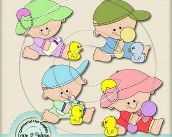 Baby Toy Duckling Exclusive Clipart