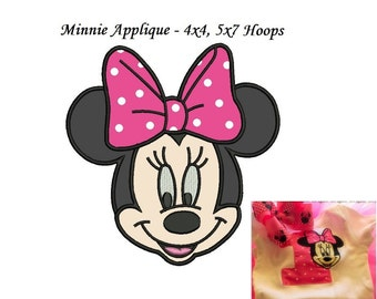 Minnie Mouse Applique Design - 3 sizes Instant Download - Minnie Face