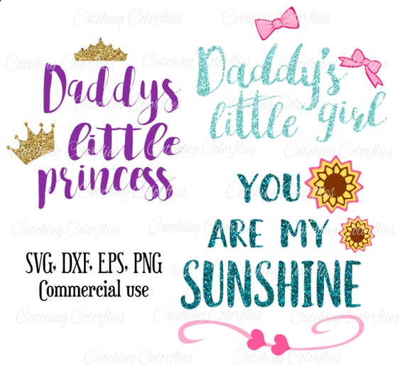 Svg Cutting Files Daddy S Little Princess Daddy S Little