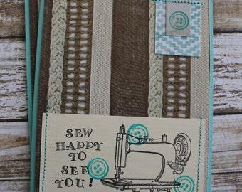 Sew Happy We're Friends Card Set
