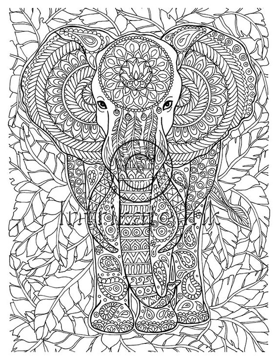 elephant coloring page animal coloring wild detailed and. Black Bedroom Furniture Sets. Home Design Ideas