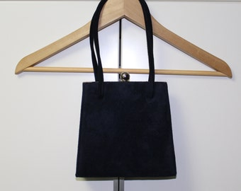 Navy Suede Purse