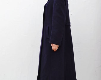 90s Vintage Oversized Navy Blue Coat BLCT1509CH