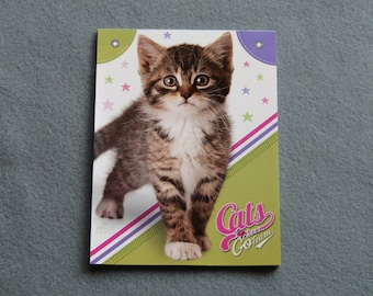 Mini Memo Pad, Paper Notebook, Stationery Book, Small Kitty Notepad, Cat Note Pad, Illustrated Kitten Papers, Writing, Scrapbooking, DIY