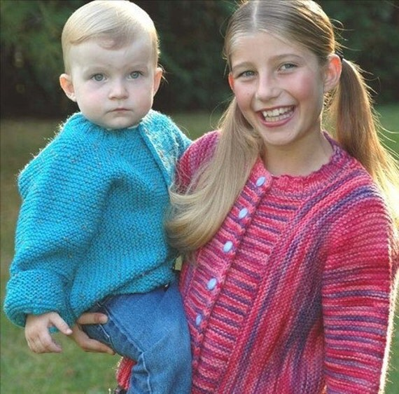 Knitting Pattern Cardigan 4 Year Old : Junior J Cardigan Knitting Pattern pdf garter stitch knit