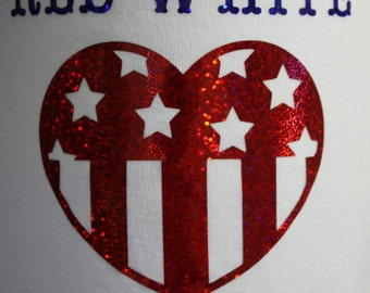 4th of July Red White and Cute Bodysuit or T Shirt