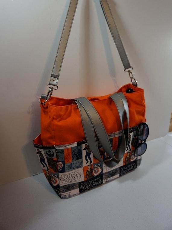 orange star wars the force awakens rebel multi diaper bag. Black Bedroom Furniture Sets. Home Design Ideas