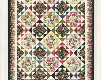 Garden Echo Quilt KIT - Maywood Studio - 3.5 pounds of fabric!!  Poppies