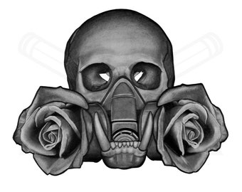 """Sweet Smell of Death - Pencil Drawing - Giclee Print - 10x8"""" Mounted & Bagged"""