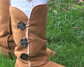 Crochet Boot Cuffs with Button