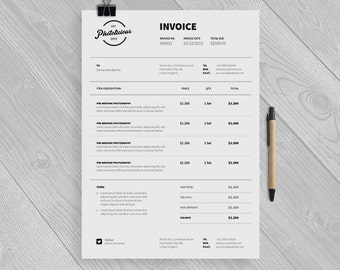 Professional Invoice Template Receipt Template PSD by papernoon