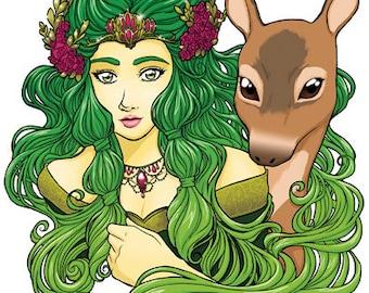 Forest- Original illustration print