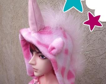 BJD Kigurumi - Pink Unicorn - SD and MSD