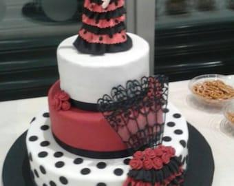 Spanish Flamenco Dance Cake Topper